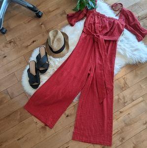 LOST + WANDER - NWT Strolling the Dijon Jumpsuit